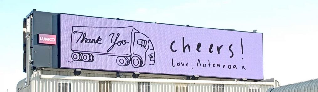AUT Students Design Billboards to Thank Essential Workers