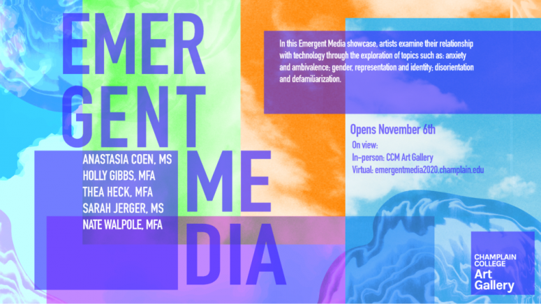 Emergent Media exhibit poster